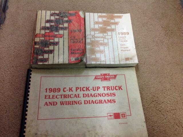 1989 Chevy Ck Truck 1500 2500 3500 Service Shop Repair