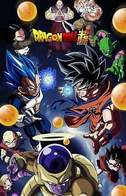 Dragon Ball Super Poster Goku Vegeta Android 17 18 Frieza Piccolo 11x17 13x19 Ebay