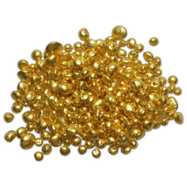 1 Gram 24k 9999 Refined Pure Gold Grain Shot Casting Round Bullion