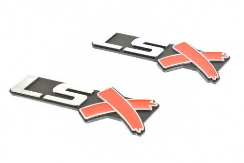 2 Pcs LSX Emblems Badge Chrome Chevy Camaro Corvette Firebird LS1 LS2 LS3 LS New