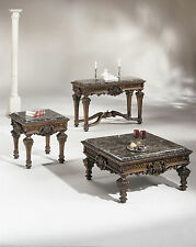 Ashley Casa Mollino Old World Stone Top 3 Piece Occasional Table Set