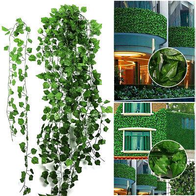 12x 2M Artificial Ivy Vine Fake Foliage Flower Hanging Leaf Garland Plant