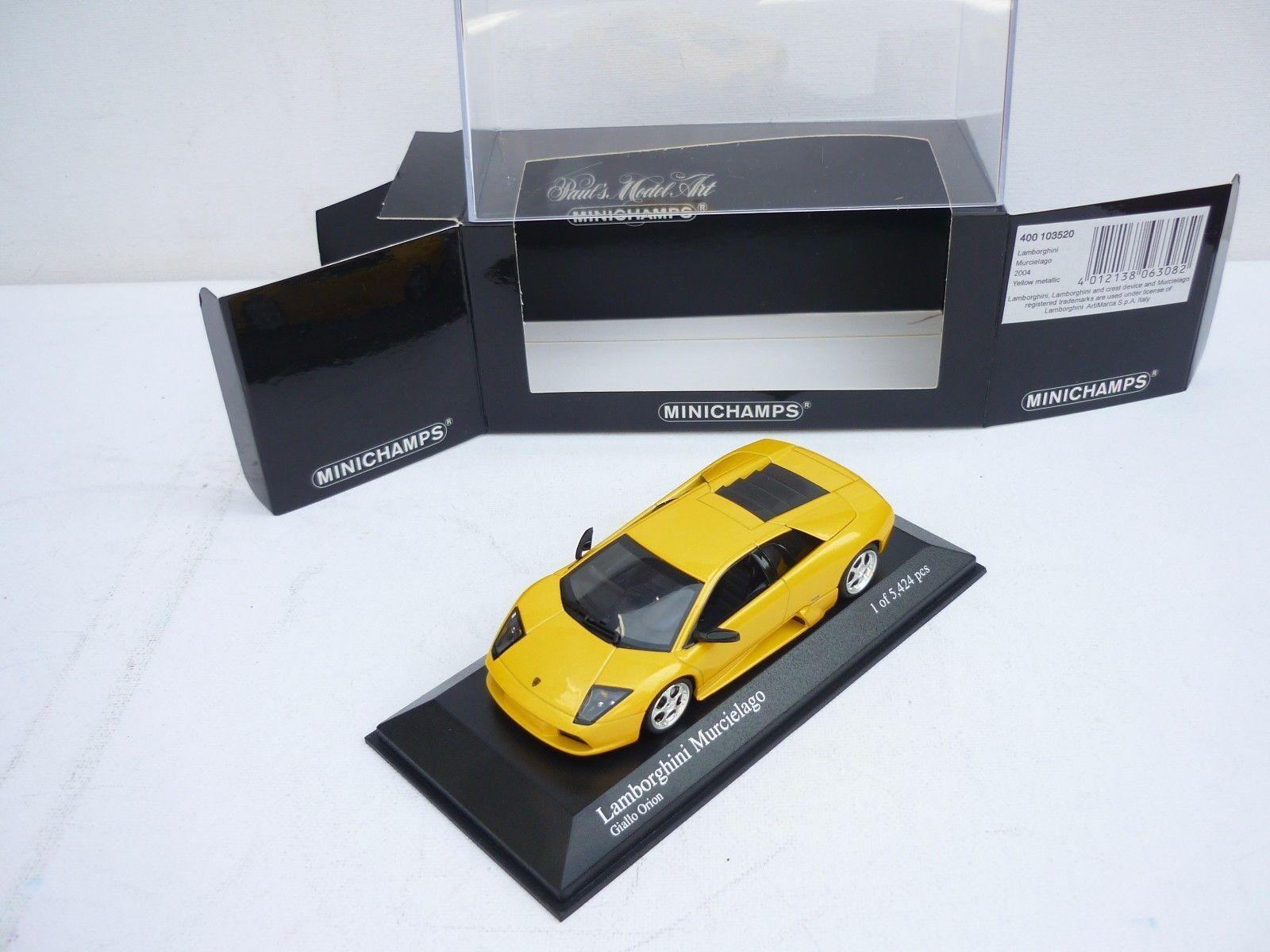 Lamborghini Murcielago, Yellow 2001 Cars, Minichamps 400 103520 103520 103520 Diecast 1 43 NEW 6f244d