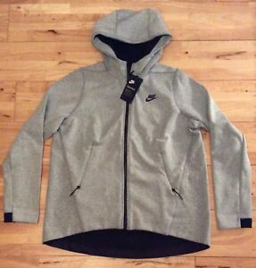 Nike Tech Fleece Women s Full Zip Hoodie Jacket 831709-411 Grey ... f10ad6342