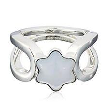 MONTBLANC 106879 anello argento 925 calcedonio agata azzurra  gr 7,5 n 13