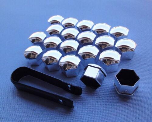 Tapas de 20x tornillos engrasador tapas sw17 cromo para tornillos KJ 20 n