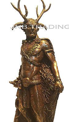 NEW CELTIC GOD - Cernunnos Standing Statue Sculpture Figurine Ship Immediately