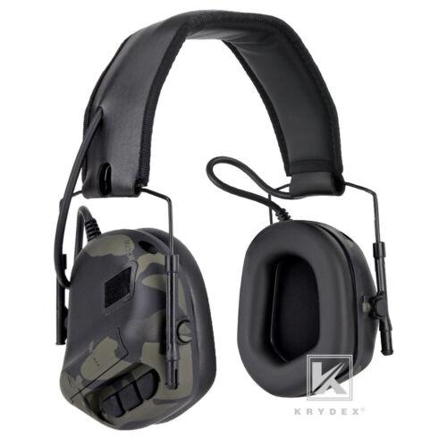 KRYDEX Tactical IPSC Headset Peltor Headphone Noise Reduction Multicam Black