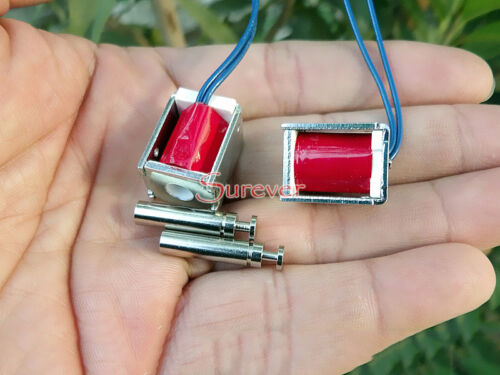 DC 6 V Push Pull aspiration type Micro Electrovanne électro-aimant Mini Courant Direct Solénoïde