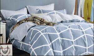 Queen-King-SuperKing-Size-Bed-Duvet-Doona-Quilt-Cover-Set-New-Ar-M353