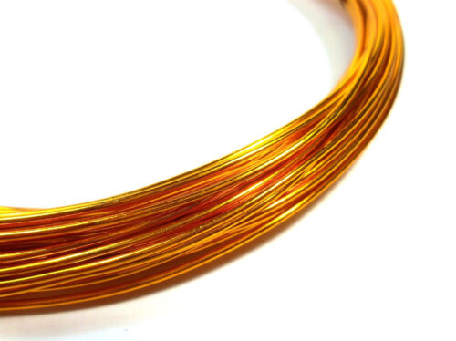 15M Aluminiumdraht 1,5 mm Gold Kupfer Aludraht Meterware Schmuck Drähte C9#3