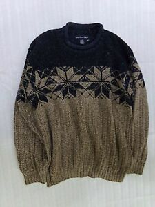 Mens-NORTHERN-ISLES-Snowflake-Nordic-Ugly-Christmas-Sweater-Size-Medium-M-USA