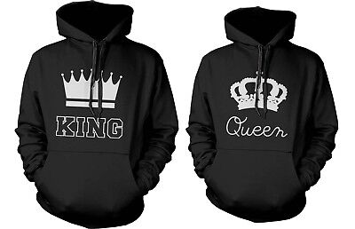 Couple Hoodies His And Hers Sweatshirts Matching Hooded King And Queen Hoodies