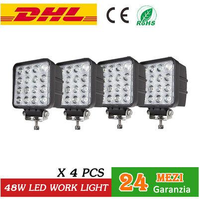 10x 48W LAMPADA DA LAVORO fari a led per trattori faretti AUTO BARCA CAMION SUV
