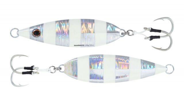 Sinking Flat Fall Shimano Butterfly Flat-Fall Jig Free Ship Super Glow