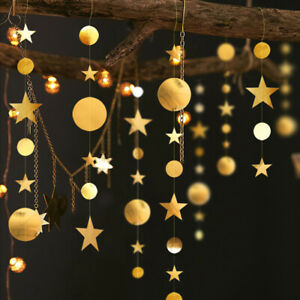 4M-Star-CirclE-Paper-Garland-Bunting-Home-Wedding-Party-Banner-Hanging-Decor