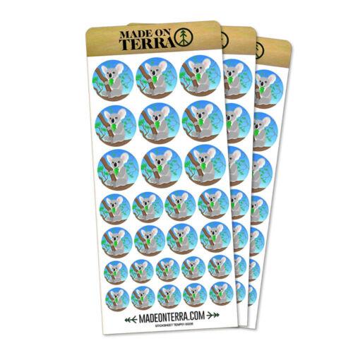 Koala Removable Matte Sticker Sheets Set