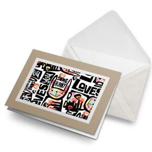 Greetings-Card-Biege-Bunny-Rabbit-Love-Funny-Cute-Animal-24225