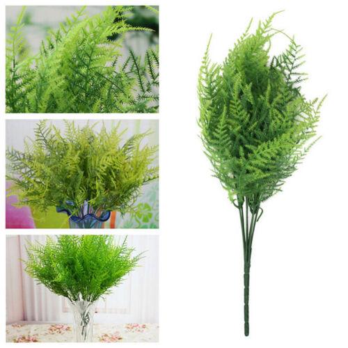 7 branches artificielle asperge herbe fougère plante fleur 3G