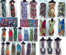 US SELLER-lot of 4 wholesale beach dresses summer short long Hippy boho dress