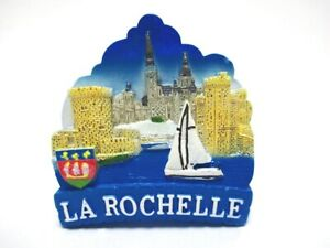 La Rochelle Magnet Fortress Cathedral Poly Gloss Souvenir France