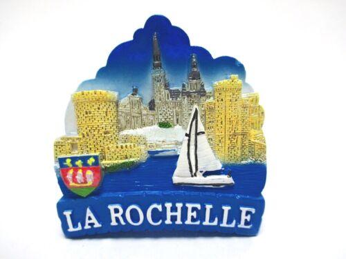 La Rochelle Magnet Festung Kathedrale Poly Glanzlack Souvenir France