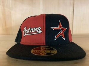 NEW-ERA-VINTAGE-HOUSTON-ASTROS-RED-BLACK-FITTED-HAT-59FIFTY-MEN-SZ-7-8