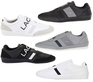 NEW-Lacoste-Men-039-s-Fashion-Shoes-Misano-Elastic-Slip-On-Leather-Sneakers