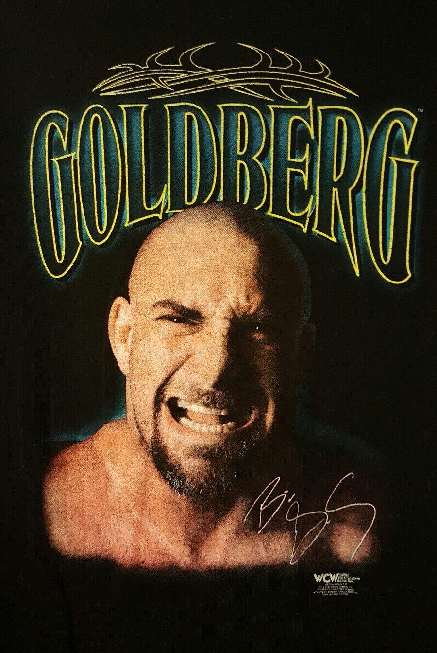 goldBERG PRE-OWNED 1998 WCW Wrestling Size XL T-Shirt