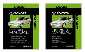 Image Is Loading 2000 Toyota Camry Service Repair Manual Book