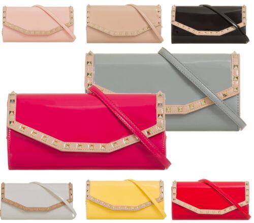 BUSTA con tacco piatto fashion con borchie in Finta Pelle Borsetta Clutch Bags Party