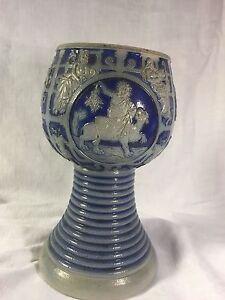 vintage stoneware vintage wine Goblets Vintage Goblets Vintage Salt Glazed Cobalt Blue Stoneware Wine Goblets wine Goblets