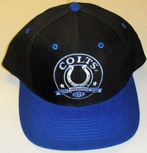 Image is loading Indianapolis-Colts-Vintage-Snapback-hat-90s-Brand-New- cd0a5f410baa