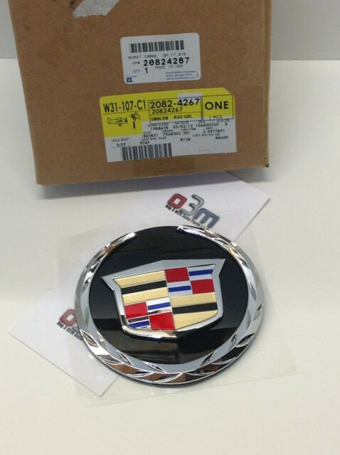 Cadillac Escalade Front Grille Crest & Wreath Medallion EMBLEM new OEM 22985035