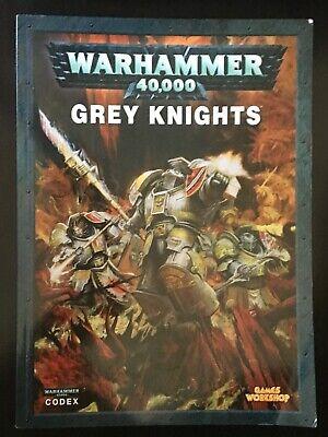 2019 Ultimo Disegno Warhammer 40k-grigio Cavalieri Codex (5th Edizione) Pubblicato Da Games Workshop-mostra Il Titolo Originale