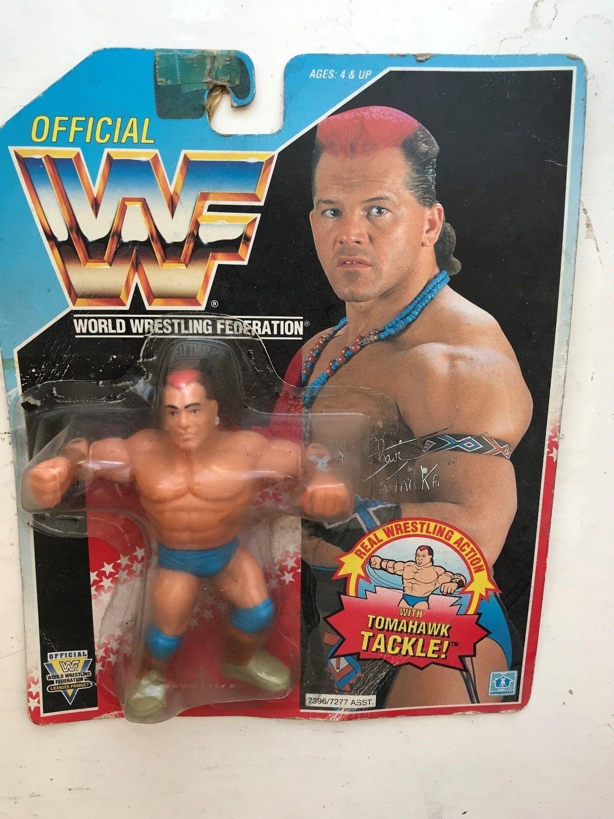 Raro en Caja WWE Tatanka HASBRO lucha libre figura WWF serie 6 1991