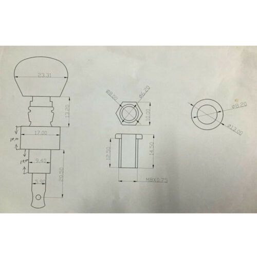 5 String Banjo Perlen Knopf Tuning Pegs Tuner Mechaniken 5Pcs Silber