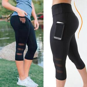 donna sportivo jogging per Leggings fitness J Pantaloni per da stretch Nero tasca Yoga uomo rete Pantalone da il xvPUvX