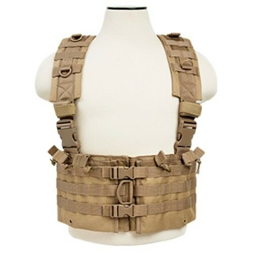 NcSTAR CVARCR2922T Tan Tactical Chest Rig w   Six 5.56 .223 Magazine Pouches  quality product