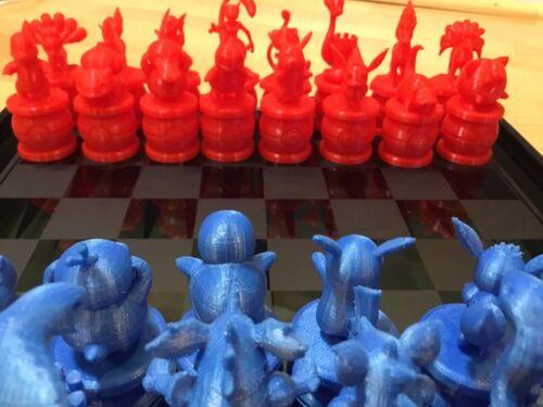 Charmander Pokemon Chess Set Squirtle Bulbasaur Ver 2. Pikachu Pokeball Mew