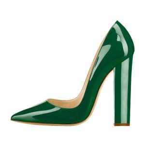 Onlymaker-Women-039-s-Classic-High-Heel-Slip-On-Pointy-Toe-Party-Dress-Pumps-Wedding