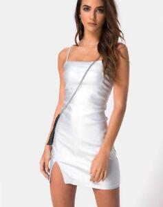 MOTEL-ROCKS-Gilea-Bodycon-Dress-in-Silver-Metallic-S-Small-mr69