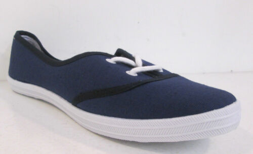 Ladies Lace Up Slip On Casual Canvas Pumps With 2 Eyelets In 2 Colours F8792