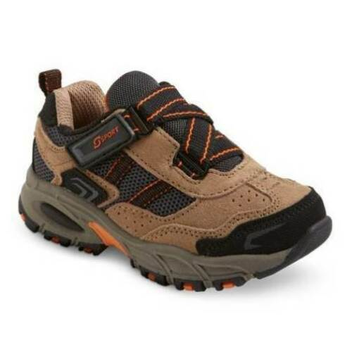 SPORT BY SKECHERS S TRAINER BOYS SHOES TODDLER NWT BROWN LOW HIKING SNEAKER