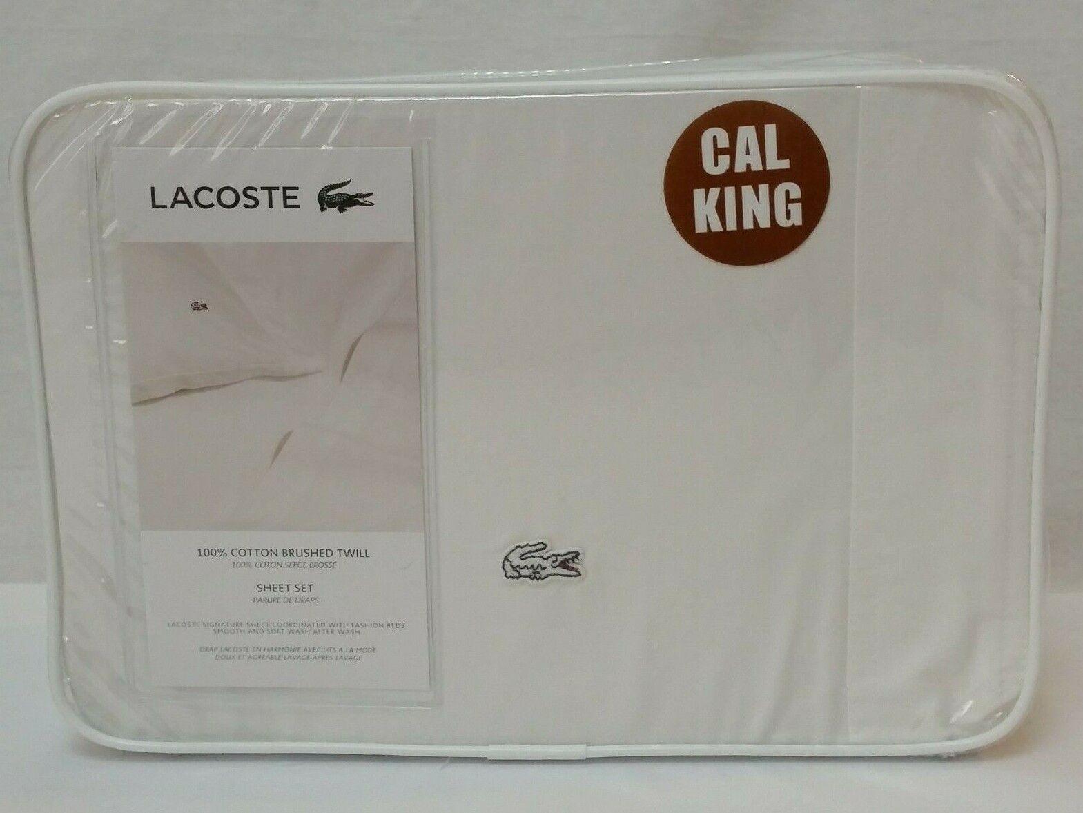 Lacoste Brushed Twill Grey King Sheet Sets For Sale Online Ebay