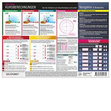 Kursberechnungen - Info-Tafel DIN A4 laminiert # Seekarte Schiff # 9783934705760
