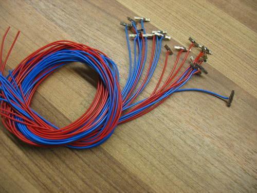 Minitrix  20 Gleisverbinder mit Sromanschlußabel  0,14 mm