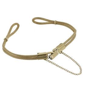 Speidel-Ladies-Gold-Tone-Mesh-Cord-Rope-Bracelet-Watch-Band-NOS