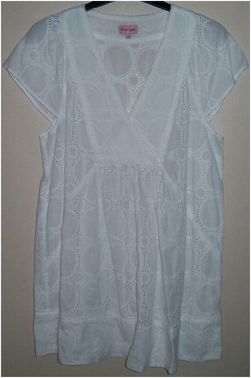 New Womens Phase Eight White Top 100% Cotton Size 10