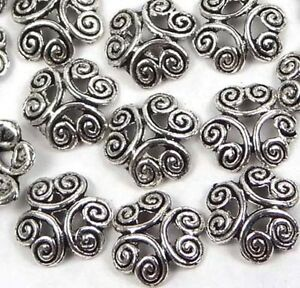 30 Silver Pewter Filigree Bead Caps 12mm ~ Lead-Free ~